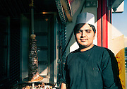 Doner kebab seller, East London
