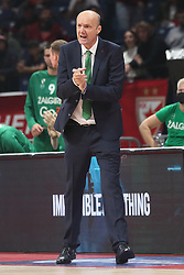 Jure Zdovc, head coach of Zalgiris Kaunas during basketball match between KK Crvena Zvezda and BC Zalgiris Kaunas at Euroleague 2021/22, on October 13, 2021 in Arena Stark, Belgrade, Serbia. Foto: Marko Metlas / MN Press / Sportida