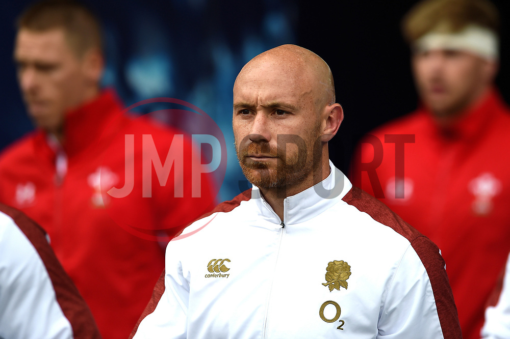 Willi Heinz and the rest of the England team walk onto the pitch - Mandatory byline: Patrick Khachfe/JMP - 07966 386802 - 11/08/2019 - RUGBY UNION - Twickenham Stadium - London, England - England v Wales - Quilter International