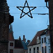 Christmas Star Illumination in Brugge, Belgium