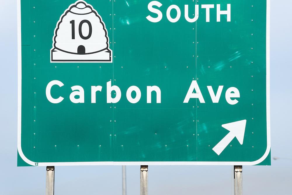 Carbon Avenue sign in Price, Utah.