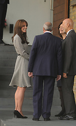 © Licensed to London News Pictures.  17/09/2015  London, UK. The Duchess of Cambridge arrives at The Anna Freud Centre, London to see how the charity is working in  children's and young people's mental health care. Photo credit : Simon Jacobs/LNP