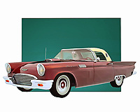 Few cars are as celebrated or iconic as the Ford Thunderbird. This is a vehicle that instantly connects people to memories of the open road. To be sure, if you wanted to go fast on such a road, this was going to be the vehicle that you wanted to do it with .<br /> <br /> BUY THIS PRINT AT<br /> <br /> FINE ART AMERICA<br /> ENGLISH<br /> https://janke.pixels.com/featured/ford-thunderbird-with-roof-jan-keteleer.html<br /> <br /> WADM / OH MY PRINTS<br /> DUTCH / FRENCH / GERMAN<br /> https://www.werkaandemuur.nl/nl/shopwerk/Klassieke-auto---Oldtimer-Ford-Thunderbird-met-dak/435444/134