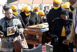 South Africa - Pretoria - 23 June 2020 - Funeral of Evelyn De Kock in Eersterust. Evelyn was found in an outside building at her family home in Eersterust, with multiple stab wounds.<br />Picture: Jacques Naude/African News Agency(ANA)