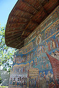 Sucevita Monastery, Bucovina, UNESCO World Heritage Site, Romania, Religious painting on the walls