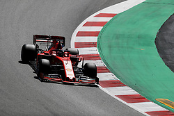 May 14, 2019 - Montmelo, Spain - SEBASTIAN VETTEL of Scuderia Ferrari Mission Winnow during the Formula 1 in season testing at Circuit de Barcelona-Catalunya in Montmelo, Spain. (Credit Image: © James Gasperotti/ZUMA Wire)
