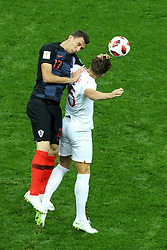 July 11, 2018 - Moscow, Russia - July 11, 2018, Moscow, FIFA World Cup 2018 Football, the playoff round. 1/2 finals of the World Cup. Football match Croatia - England at the stadium Luzhniki. Player of the national team Mario Manjukic  (Credit Image: © Russian Look via ZUMA Wire)