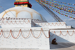 Boudhanath Stupa in Kathmandu during our Himalayan Heroes adventure, Nepal. Saturday, November 3, 2018. Photography ©2018 Michael Lichter.