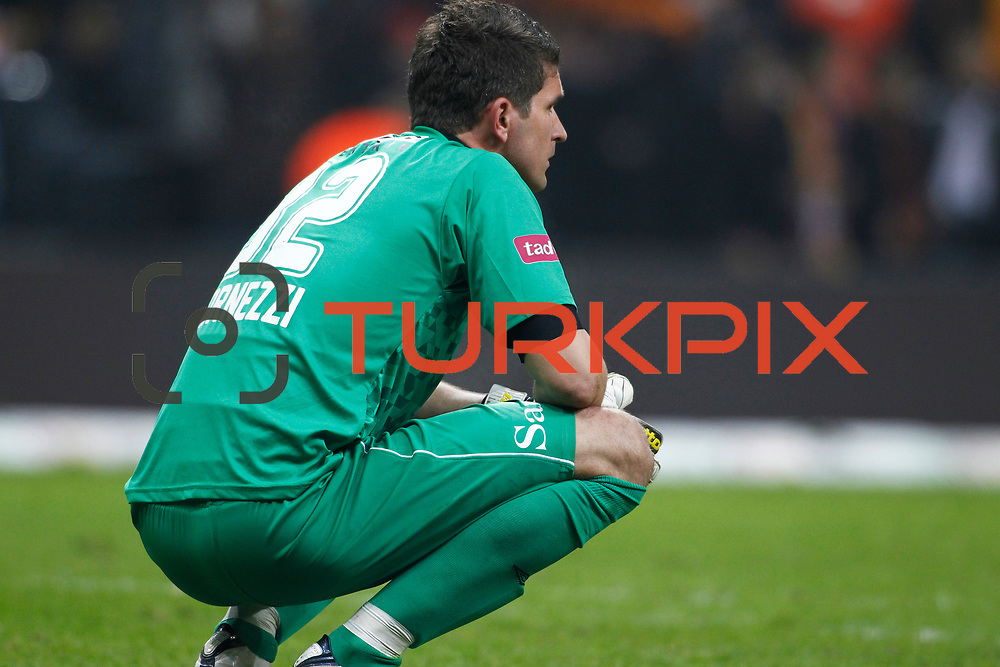 Orduspor's goalkeeper Saso Fornezzi during their Turkish Superleague soccer match Galatasaray between Orduspor at the AliSamiyen Spor Kompleksi TT arena in Istanbul Turkey on Monday 25 February 2013. Photo by Aykut AKICI/TURKPIX