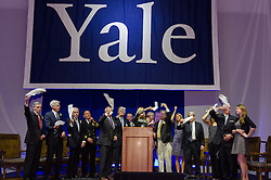 Yale Athletics Blue Leadership Ball & George H.W. Bush '48 Lifetime of Leadership Awards. 22 November 2013 at the William K. Lanman Center inside Payne Whitney Gym, Yale University.