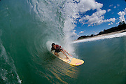 May 4 2011: Dane Pioli surfs at Duranbah Beach on the NSW and QLD border.