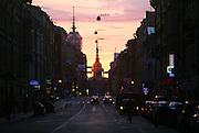 St. Petersburg street scene during White Nights Festival