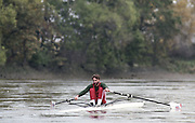 "Putney. London. GREAT BRITAIN;  GBR LM1X. peter HAINING.<br /> <br /> 1995 Thames World Sculling Championships, Putney to Mortlake. Championship Course, River Thames.<br /> <br /> [Mandatory Credit; ""Photo, Peter Spurrier/Intersport-images]"