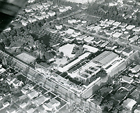 1922 Aerial of Charles Chaplin Studio on La Brea Ave
