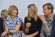Anna Wintour, Virginia Smith, Hammish Bowles attends the Derek Lam S/S 2014 fashion show at Sean Kelly Gallery on September 08, 2013 in New York City.