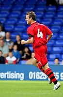 Photo: Paul Greenwood.<br />Stockport County v Cardiff City. Coca Cola Championship. Pre Season Friendly. 28/07/2007.<br />Cardiff's Gavin Rae celebrates his goal