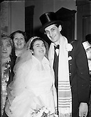 1952 - Wedding of Mr. B. Stein at Greenville Hall Synagogue, Dolphins Barn, Dublin