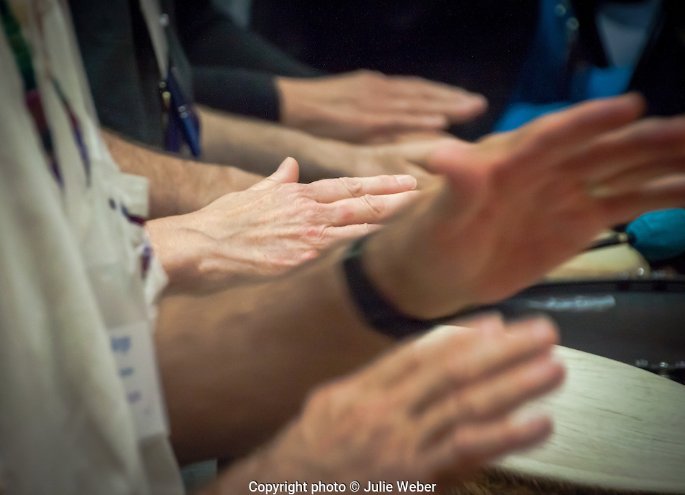 Hands on Music series: features hands as they play and touch musical instruments.