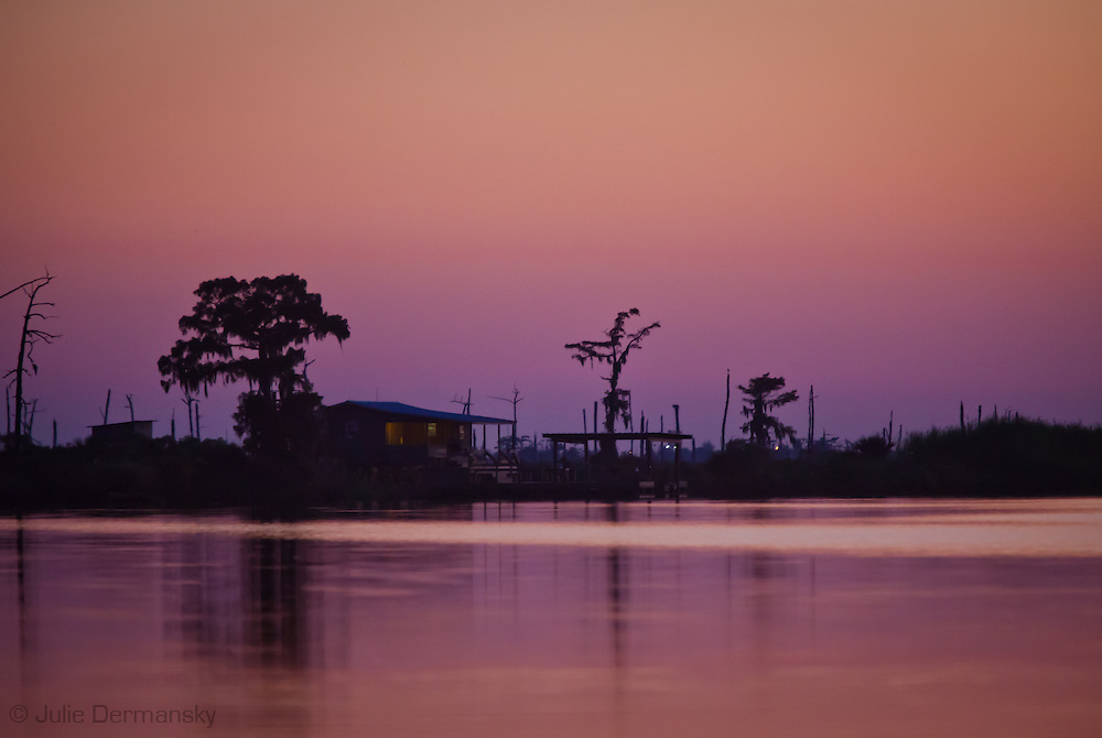 The Manchac swamp connects to Lake Pontchartrain. Southeastern Louisiana's wetlands were threatened by the BP oil spill but containment of the Macondo well saved most of the bayous lakes and waterways that make their way to the Gulf of Mexico. Louisiana's wetlands are threaten by coastal erosion, climate change and the oil and gas industry.
