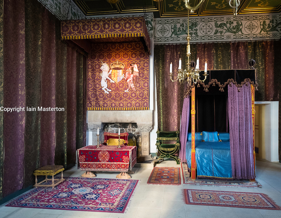 The Queen's Bedchamber  inside Royal Palace at Stirling Castle in Stirling, Scotland, United Kingdom.
