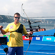 Dmytro HRACHOV (UKR) competes in Archery World Cup Final in Istanbul, Turkey, Sunday, September 25, 2011. Photo by TURKPIX