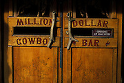 Detail of doorway with antler handles, Million Dollar Cowboy Bar, Jackson, Wyoming. ..Subject photograph(s) are copyright Edward McCain. All rights are reserved except those specifically granted by Edward McCain in writing prior to publication...McCain Photography.211 S 4th Avenue.Tucson, AZ 85701-2103.(520) 623-1998.mobile: (520) 990-0999.fax: (520) 623-1190.http://www.mccainphoto.com.edward@mccainphoto.com.