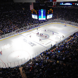 May 14, 2012: General view of the opening face-off for first period action in game 1 of the NHL Eastern Conference Finals between the New Jersey Devils and New York Rangers at Madison Square Garden in New York, N.Y.