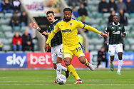 Tom Soares (19) of AFC Wimbledon on the attack during the EFL Sky Bet League 1 match between Plymouth Argyle and AFC Wimbledon at Home Park, Plymouth, England on 6 October 2018.