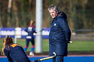 BILTHOVEN -  Hoofdklasse competitiewedstrijd dames, SCHC v hdm, seizoen 2020-2021.<br /> Foto: Assistent-coach Marc Materek (hdm)