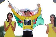 Podium, Hotess, Miss, Fllag Geraint Thomas (GBR - Team Sky) Yellow Jersey, wins the Tour de France during the 105th Tour de France 2018, Stage 21, Houilles - Paris Champs-Elysees (115 km) on July 29th, 2018 - Photo George Deswijzen / Pro Shots / ProSportsImages / DPPI