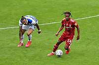 Football - 2019 / 2020 Sky Bet (EFL) Championship - Queens Park Rangers vs. Fulham<br /> <br /> Fulham's Bobby Decordova-Reid holds off the challenge from Queens Park Rangers' Geoff Cameron, at Kiyan Prince Foundation Stadium (Loftus Road).<br /> <br /> COLORSPORT/ASHLEY WESTERN