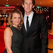 NLD/Den Haag/20111212 - NOC / NSF Sportgala 2011, winnaar Ouvreprijs Edwin van der Sar en partner Annemarie van Kesteren