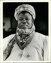 Feb. 02, 1959 - African Knight: The Premier of Northern Nigeria, Alhadji Ahmadu Bello, Sardauna of Sokoto, was a recent visitor to Buckingham palace to have a knighthood bestowed upon him by Queen Elizabeth. With British co-operation, northern Nigeria will achieve self government on march 15th. Photo shows. Alhadji Sir Ahmadu Bello wearing around his neck and on his chest the insignia of a Knight of the British Empire on his return to Kaduna, capital of northern nigeria, from london. (Credit Image: © Keystone Press Agency/Keystone USA via ZUMAPRESS.com)
