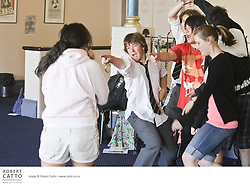 The Schoolfest programme in the New Zealand International Arts Festival gets kids and artists together to share, learn, and exchange ideas.  In this workshop, performers from The Walworth Farce (along with facilitator Willem Wassenaar) work with students from around Wellington on their physical type of theatre.