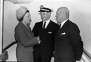 02/06/1964 <br /> 06/02/1964<br /> 02 June 1964<br /> New Aer Lingus pilots. Pilots Wings were presented to nine young airmen by Captain W.J. Scott, Assistant General Manager (Technical) Aer LIngus at Dublin Airport. Picture shows one of the new pilots, Charles Coughlan, Waterfall Road, Cork being congratulated by his parents Mr and Mrs John B. Coughlan after the ceremony.