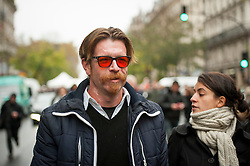 © London News Pictures. Paris, France. 13 Nov 2016: Eagles of Death Metal frontman Jesse Hughes leaving the the Bataclan memorial service on the anniversary of the attacks where he had been playing on the night of the attacks. Jesse Hughes was refused entry last night when he attempted to see Sting who was performing at the reopening of the venue. He was turned away at the door on basis of earlier complaints he made about security. Photo credit: Guilhem Baker/LNP