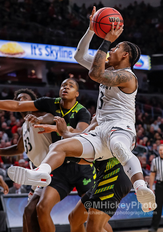 CINCINNATI, OH - JANUARY 15: Justin Jenifer #3 of the Cincinnati Bearcats shoots the ball during the second half of the game against the South Florida Bulls at Fifth Third Arena on January 15, 2019 in Cincinnati, Ohio. (Photo by Michael Hickey/Getty Images) *** Local Caption *** Justin Jenifer