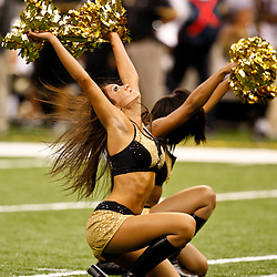 August 21, 2010; New Orleans, LA, USA; New Orleans Saints Saintsations cheerleaders perform New Orleans Saints Saintsations cheerleaders perform during the second half of a 38-20 win by the New Orleans Saints over the Houston Texans at the Louisiana Superdome. Mandatory Credit: Derick E. Hingle-US PRESSWIRE