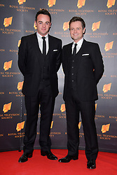 Ant and Dec attend the RTS Programme Awards. London, United Kingdom. Tuesday, 18th March 2014. Picture by Chris Joseph / i-Images