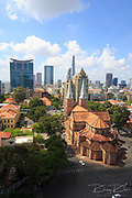 HO CHI MINH CITY, VIETNAM - MAY 19, 2015 : Notre Dame Cathedral, Nha Tho Duc Ba, build in 1883 in Hochiminh city, Vietnam on 19 May 2015.