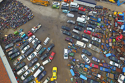 June 21, 2017 - Nanjing, Nanjing, China - Nanjing, CHINA-June 21 2017: (EDITORIAL USE ONLY. CHINA OUT) ..Thousands of abandoned cars, motorbikes, bicycles and trucks can be seen at a parking lot in Nanjing, east China's Jiangsu, June 21st, 2017. (Credit Image: © SIPA Asia via ZUMA Wire)