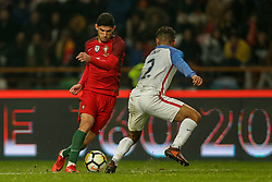 November 15, 2017 - Na - Leiria, 11/14/2017 - The National Soccer Team received tonight its United States counterpart at the Municipal Stadium of Leiria Dr. Magalhães Pessoa in preparation for the 2018 World Cup in Russia. Gonçalo Guedes  (Credit Image: © Atlantico Press via ZUMA Wire)