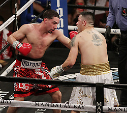 February 18, 2018 - Las Vegas, Nevada, United States of America - Welterweight boxers Danny ''Swift'' Garcia and Brandon Rios  battle each other during their WBC Welterweight elimination bout  on February 17, 2018 at Mandalay Bay Events  Center in Las  Vegas, Nevada. (Credit Image: © Marcel Thomas via ZUMA Wire)