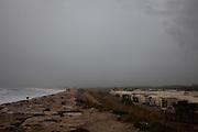 Camping site in Costa da Caparica during autumn, Portugal. 13/11/2011 NO SALES IN PORTUGAL