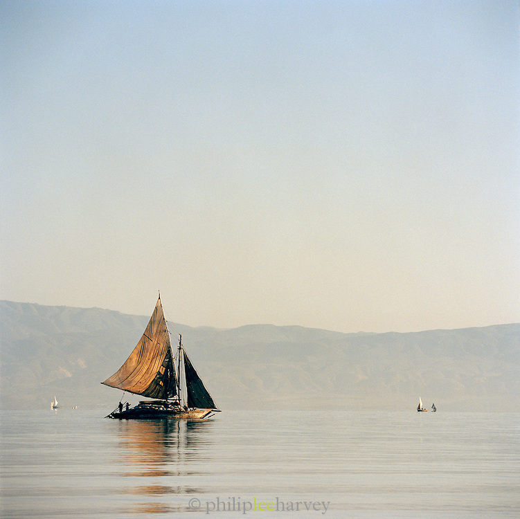 A local wooden sailboat transporting goods, Port-Au-Prince, Haiti