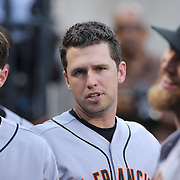 Buster Posey, San Francisco Giants, during the New York Mets Vs San Francisco Giants MLB regular season baseball game at Citi Field, Queens, New York. USA. 11th June 2015. Photo Tim Clayton
