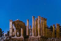 Temple of Zeus, Greco-Roman ruins, Jerash, Jordan.