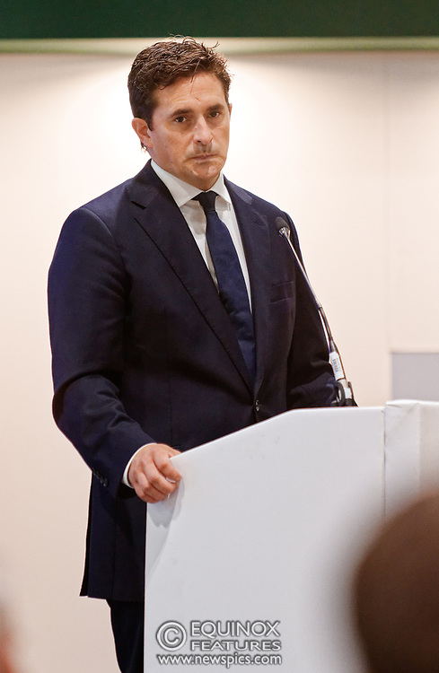 London, United Kingdom - 12 September 2019<br /> Johnny Mercer MP, Parliamentary Under-Secretary of State for Defence People and Veterans for the UK Government gives a keynote address speech and answers questions from the audience at DSEI 2019 security, defence and arms fair at ExCeL London exhibition centre.<br /> (photo by: EQUINOXFEATURES.COM)<br /> Picture Data:<br /> Photographer: Equinox Features<br /> Copyright: ©2019 Equinox Licensing Ltd. +443700 780000<br /> Contact: Equinox Features<br /> Date Taken: 20190912<br /> Time Taken: 10211201<br /> www.newspics.com