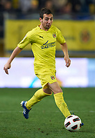 VILLAREAL, SPAIN - FEBRUARY 4: xxxxx of xxxxx duels for the ball during the La Liga match betweenVillarreal CF ant Levante UD at El Madrigal Stadium in Villarreal on Fabruary 4 2011. Levante won 0-1.(Photo by Xaume Olleros/SSP/DPPI)