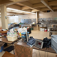 Seasonings, supplies and electronic devices are stored inside of the Aggressive Christianity Missions Training Corps (ACMTC) headquarters kitchen in Fence Lake Feb. 27th, 2019.